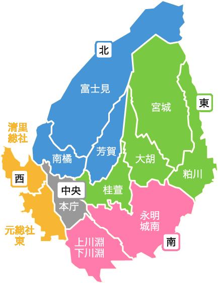 前橋の地図